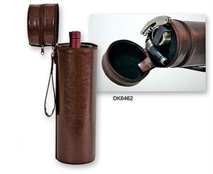 Picture of Leather Single Bottle Case with Wine Accessories