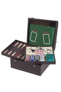 Picture of Double Bottle Case with Wine Accessories and Set of Games