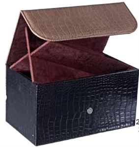 Picture of Leather Quadruple Wine Presentation Box
