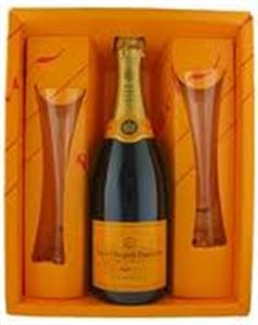 Picture of Veuve Clicquot Brut with Two Champagne Glasses