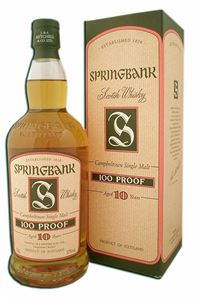 Picture of Springbank  10 Year Old/  57% vol. 100 Proof