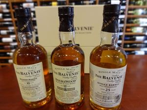 Picture of The Balvenie Master's Selection (10 Year Old + 12 Year Old + 25 Year Old) 3 x 20cl