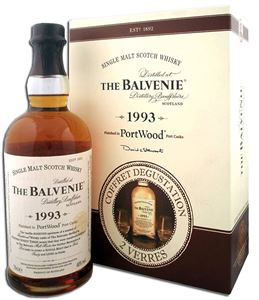 Picture of Balvenie 1993 PortWood in giftback with 2 glasses