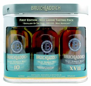 Εικόνα της Bruichladdich First Edition Wee Laddie Tasting Pack/ Set of 3 x 20cl