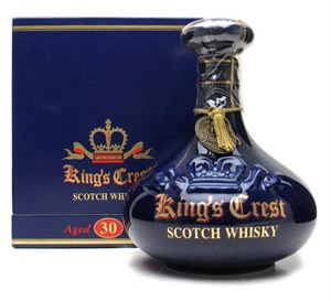 Picture of King's Crest 30 Year Old Blended Scotch Whisky/ Blue Decanter 0.7l 40% vol.