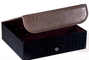 Picture of Leather Triple Wine Presentation Case